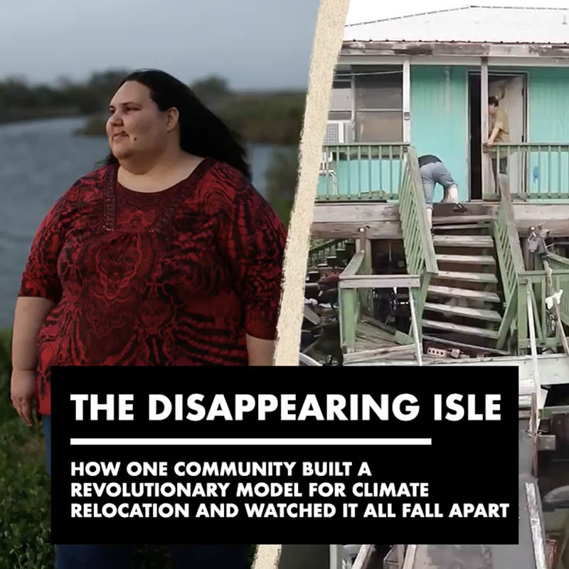 'The Disappearing Isle' interactive documentary cover
