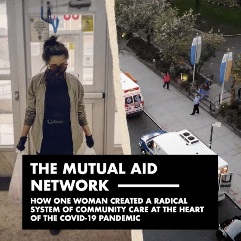 'The Mutual Aid Network' interactive documentary cover