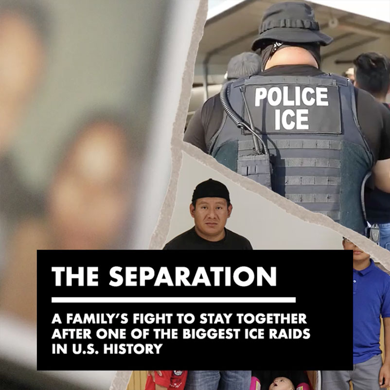 'The Separation' interactive documentary cover
